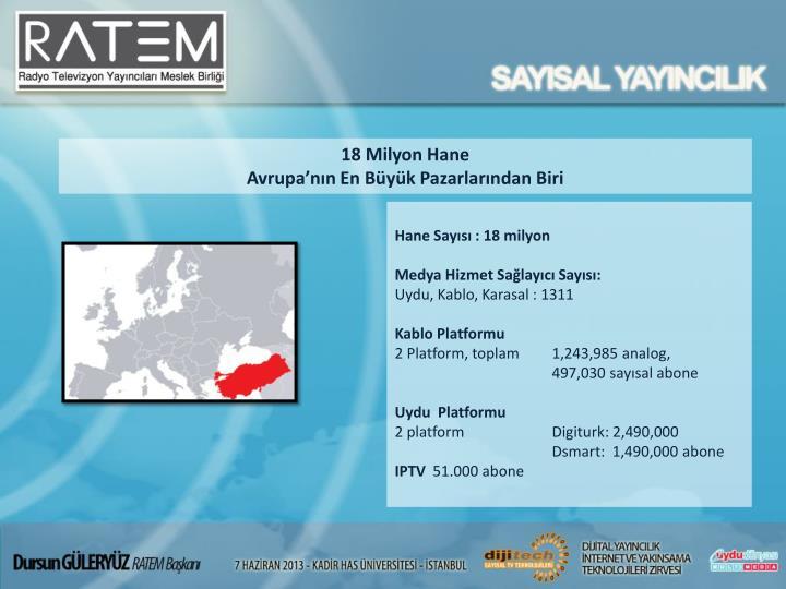 18 Milyon Hane