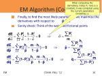 em algorithm coins v