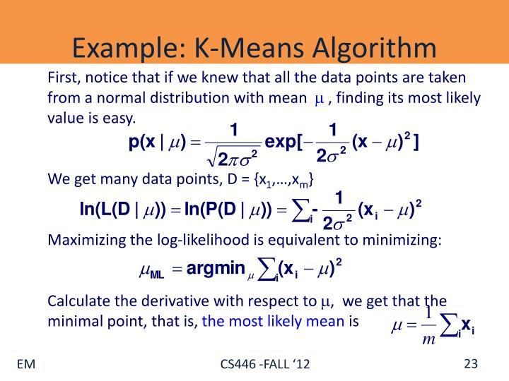 Example: K-Means Algorithm