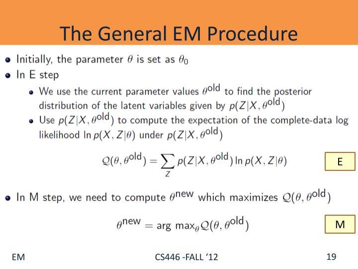 The General EM Procedure