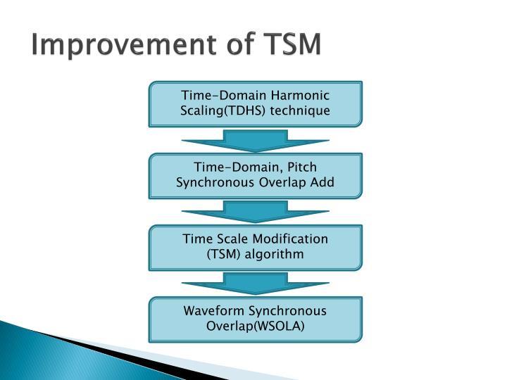 Improvement of TSM