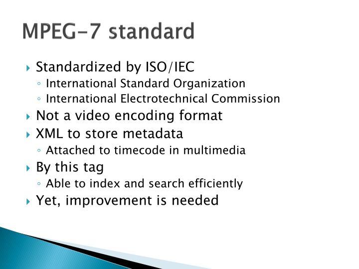 MPEG-7 standard