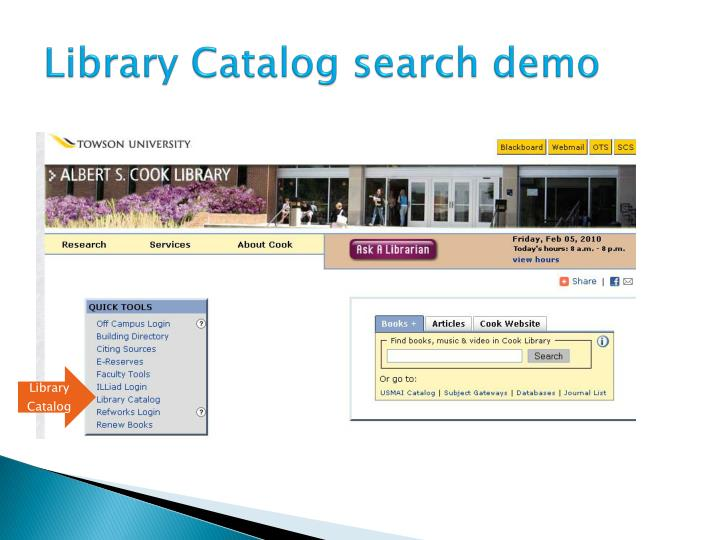 Library Catalog search demo