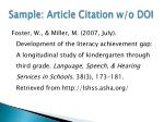sample article citation w o doi
