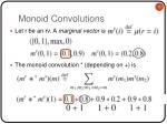 monoid convolutions