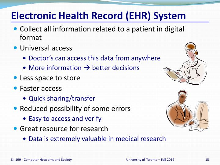 Electronic Health Record (EHR) System