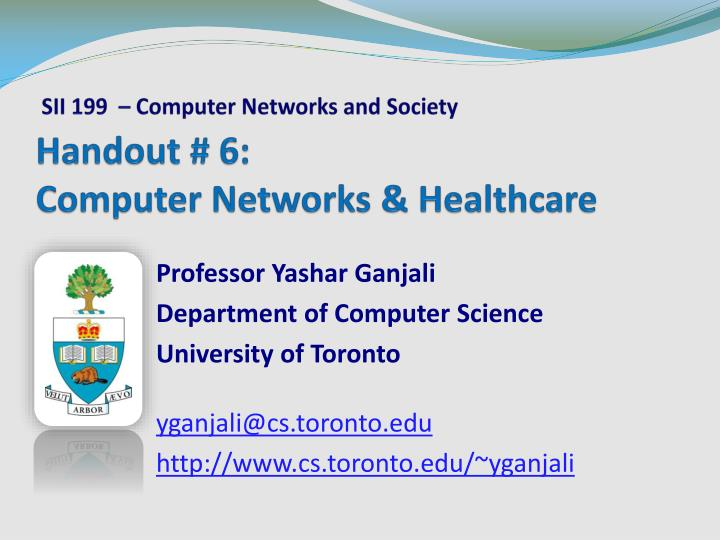 Handout 6 computer networks healthcare