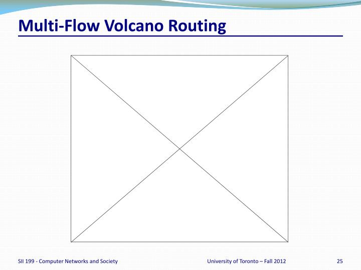Multi-Flow Volcano Routing