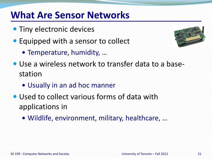What Are Sensor Networks