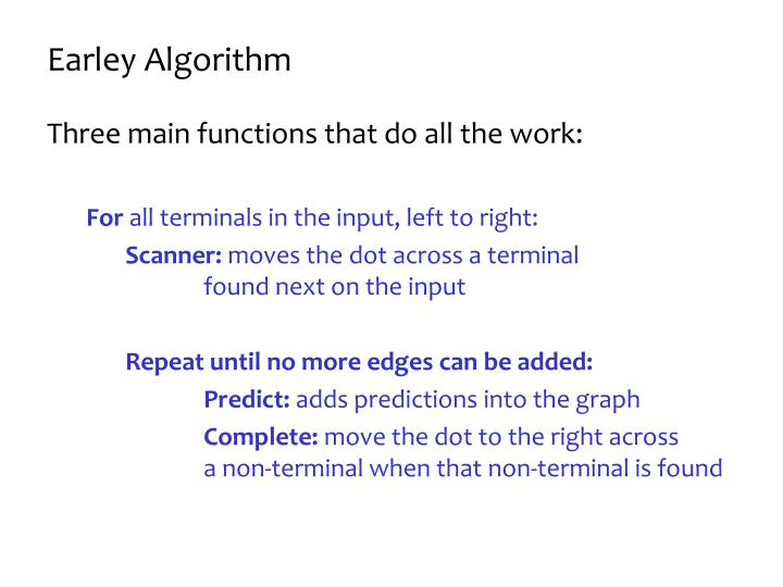 Earley Algorithm