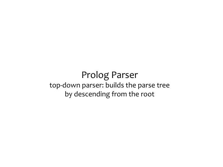 Prolog Parser