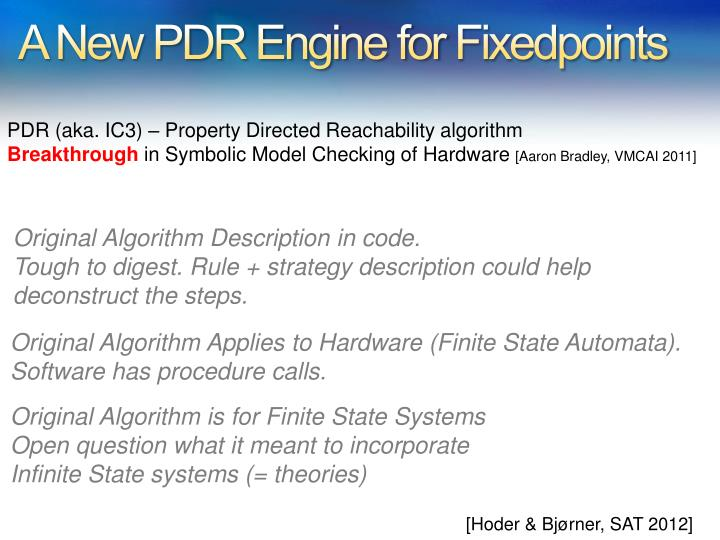 A New PDR Engine for