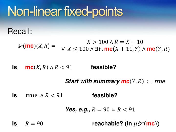 Non-linear fixed-points