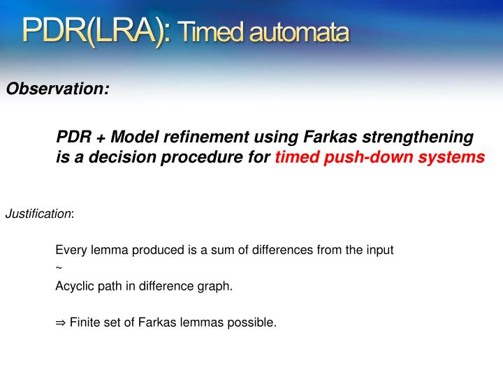 PDR(LRA):