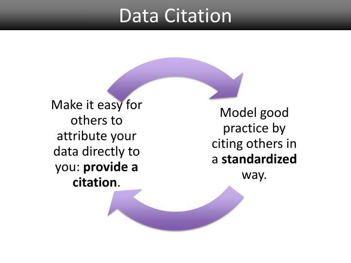 Data Citation
