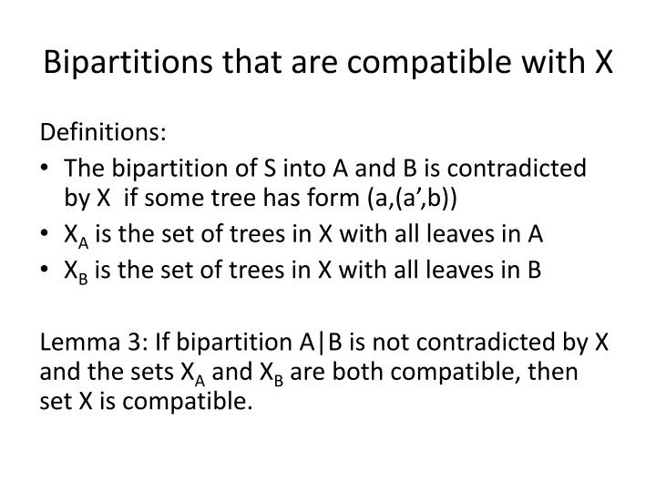 Bipartitions that are