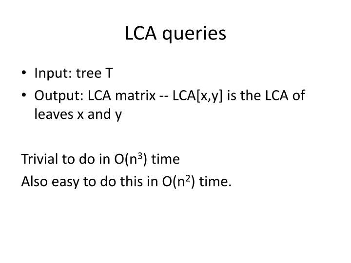 LCA queries