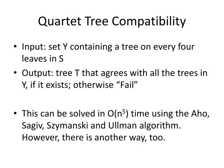 Quartet Tree Compatibility
