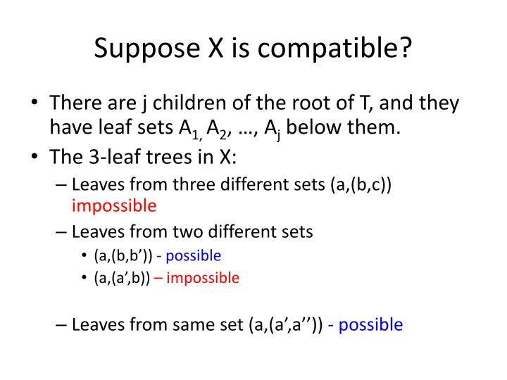 Suppose X is compatible?