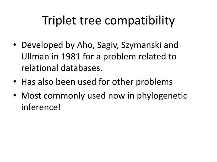 Triplet tree compatibility