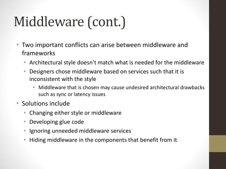 Middleware (cont.)
