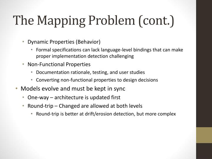 The Mapping Problem (cont.)