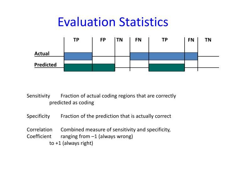 Evaluation Statistics