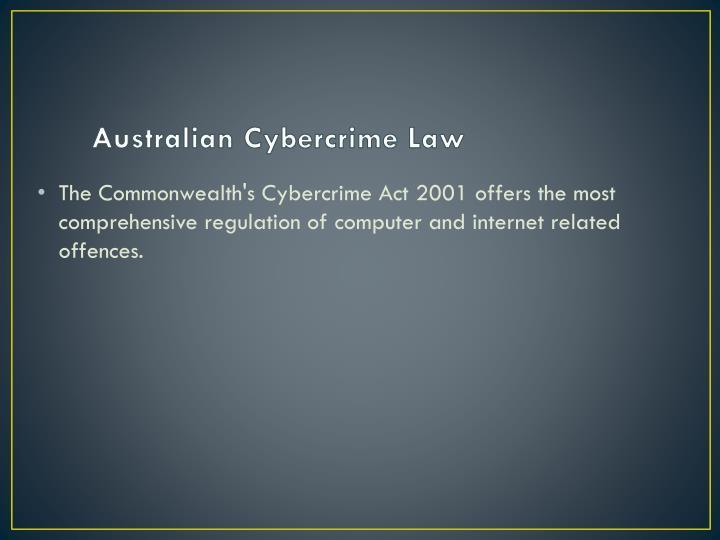 Australian Cybercrime Law