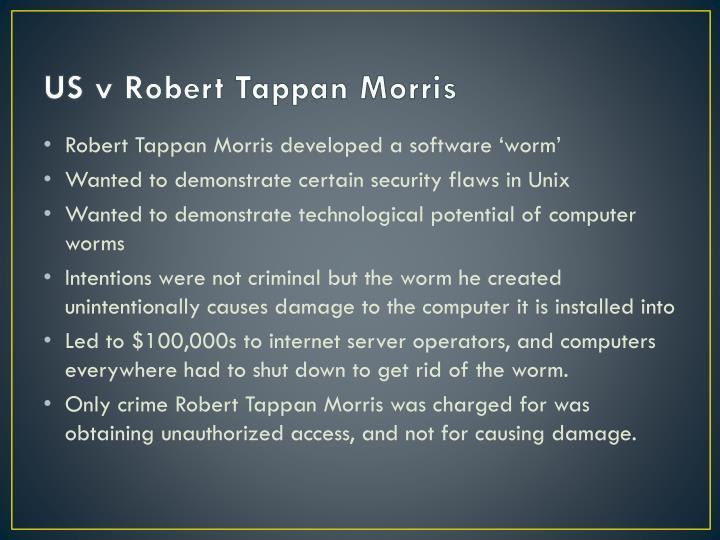 US v Robert Tappan Morris