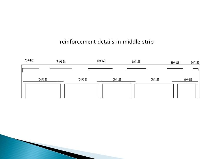 reinforcement details in middle strip