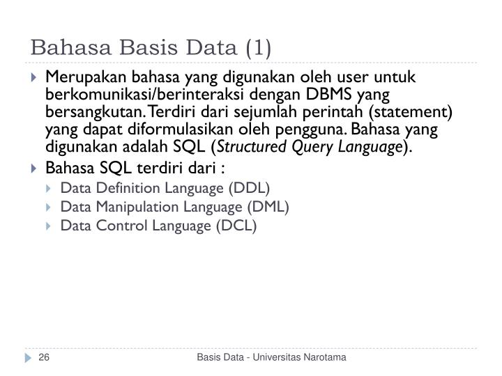 Bahasa Basis Data (1)