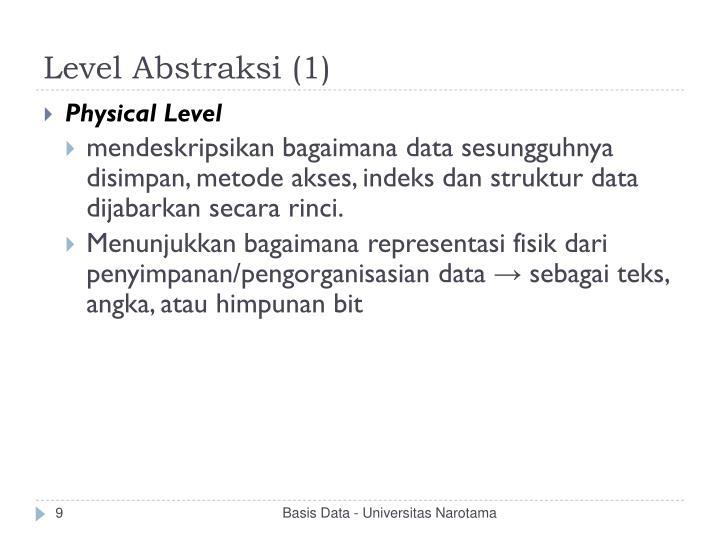 Level Abstraksi (1)