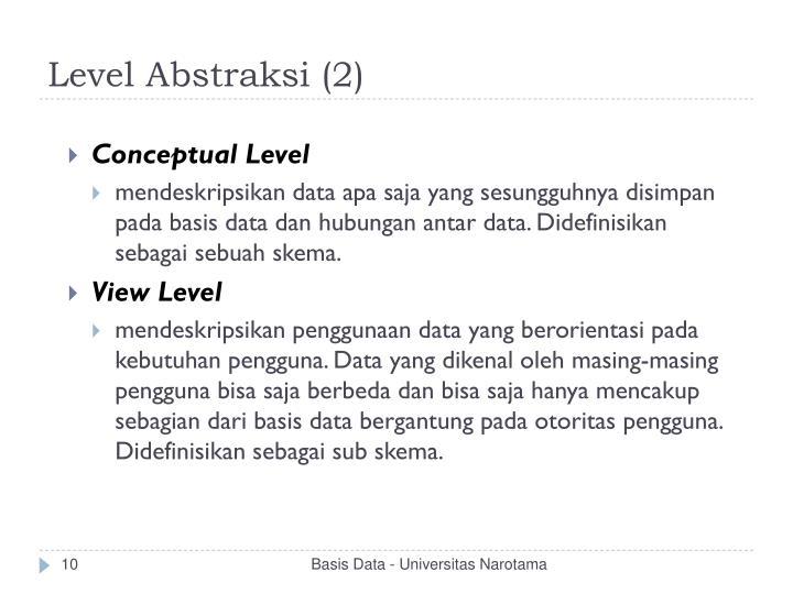 Level Abstraksi (2)