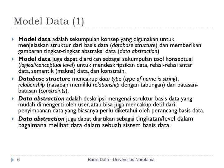 Model Data (1)