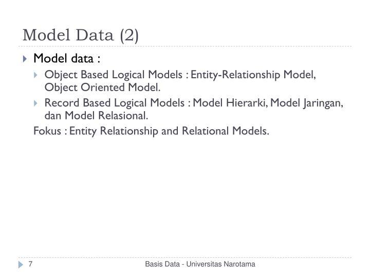 Model Data (2)