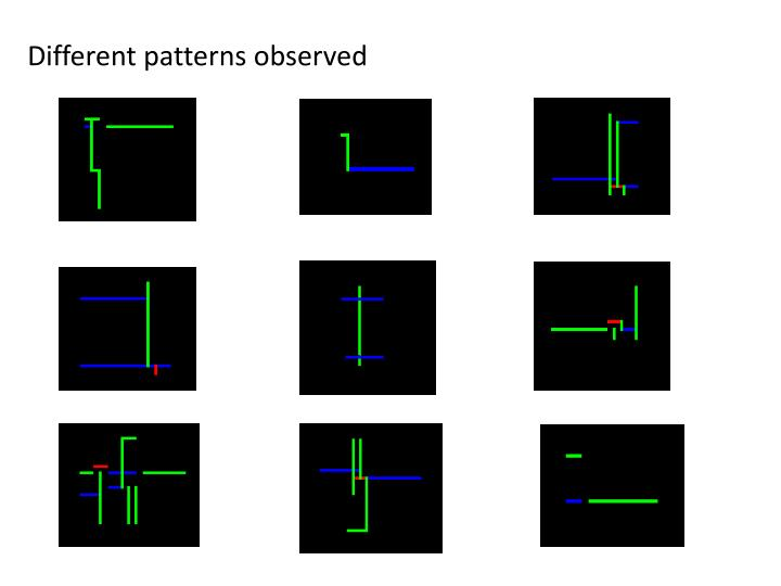 Different patterns observed