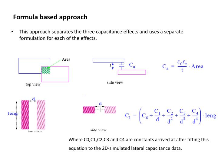 Formula based approach