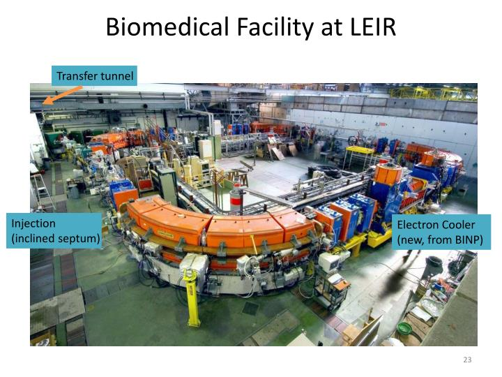 Biomedical Facility at LEIR