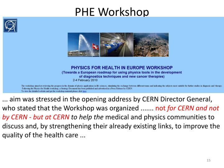 PHE Workshop