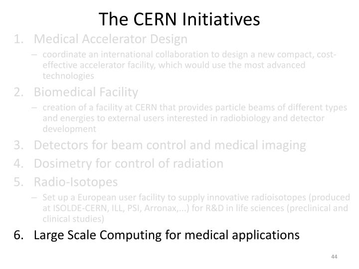 The CERN Initiatives