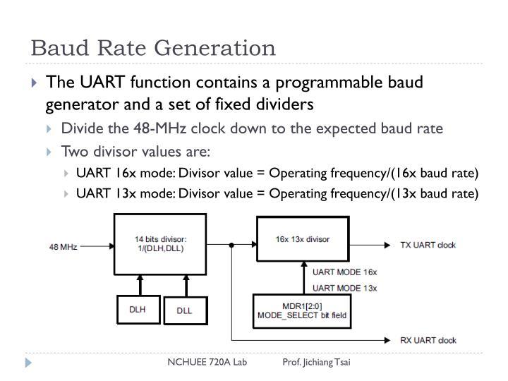 Baud Rate Generation