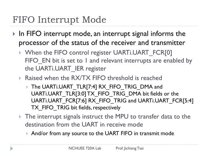 FIFO Interrupt Mode