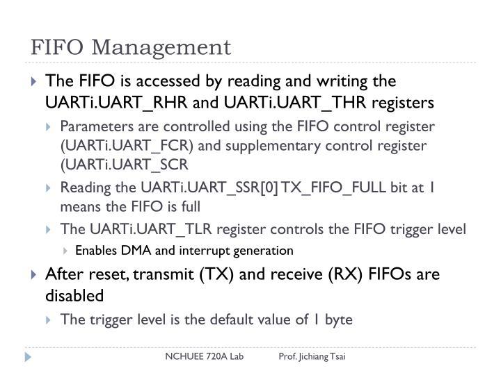 FIFO Management