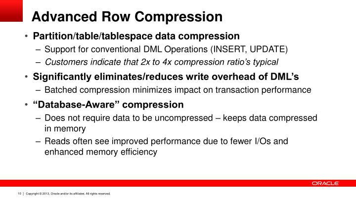 Advanced Row Compression