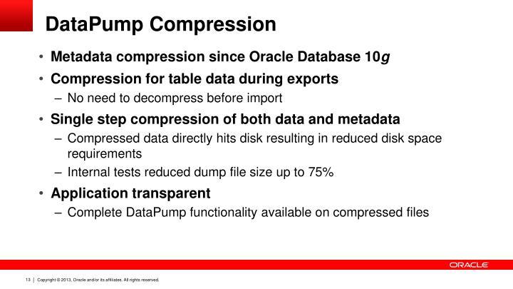 DataPump Compression