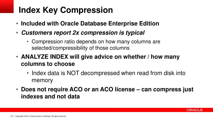 Index Key Compression