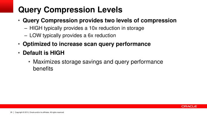 Query Compression Levels