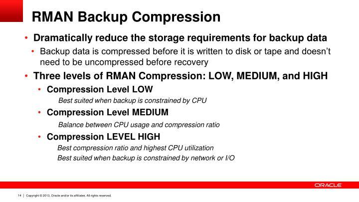 RMAN Backup Compression
