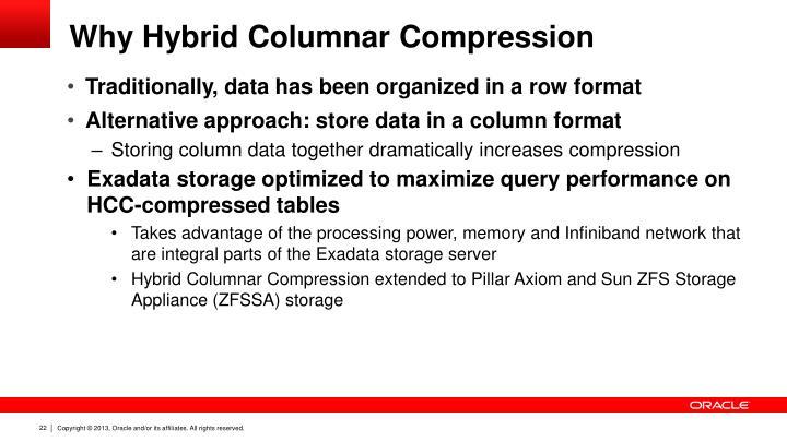 Why Hybrid Columnar Compression