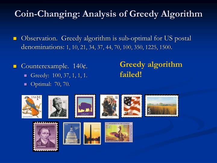 Coin-Changing: Analysis of Greedy Algorithm